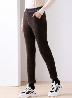 High Waisted Slim Pencil Pants