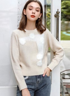 Long Sleeve Pullover Short Sweater