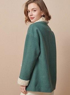 Lapel Single-breasted Straight Coat