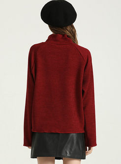 Turtleneck Long Sleeve Pullover Sweater