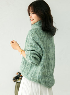 Turtleneck Pullover Loose Sweater