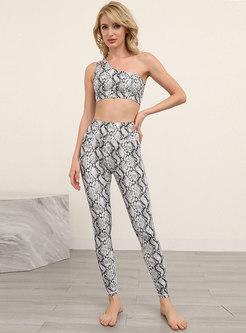Snake Print Sport Bra & Tight Yoga Pants