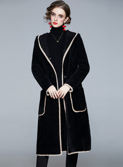 Hooded Long Straight Overcoat With Pockets