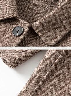 Turn Down Collar Short Slim Coat