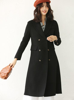 Lapel Double-breasted Wool Peacoat