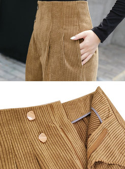 High Waisted Corduroy Harem Pants