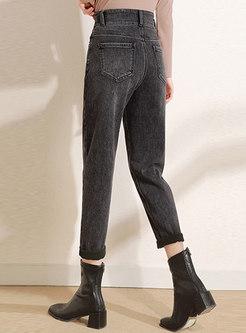 High Waisted Short Plush Harem Pants