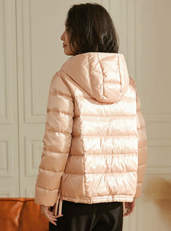 Hooded Short Single-breasted Puffer Jacket