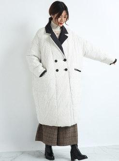 Plus Size Mock Neck Long Down Coat