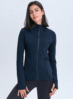 Mock Neck Slim Sport Yoga Jacket