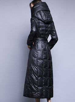Hooded Long A Line Down Coat