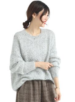 Crew Neck Pullover Plus Size Sweater