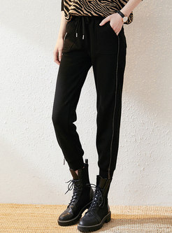 High Waisted Drawstring Harem Pants