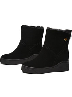Flock Plush Increased Internal Snow Boots