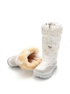 Waterproof Snowflake Platform Snow Boots