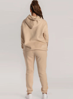 Hooded Pullover Casual Sweatshirt Pant Suits