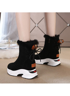 Short Plush Non-slip Platform Snow Boots