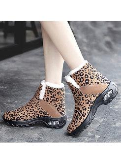 Leopard Non-slip Platform Casual Snow Boots