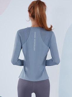 Transparent Breathable Split Sport Top