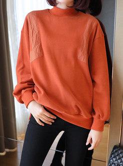 Turtleneck Pullover Split Loose Sweater