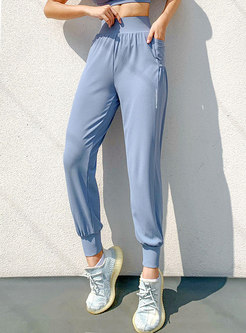 Solid High Waisted Quick-drying Fitness Pants