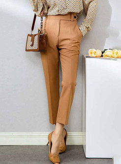 Brief High Waisted Slim Dress Pants