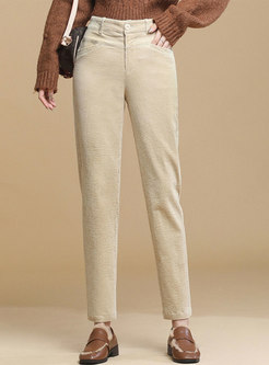 Retro Corduroy High Waisted Pencil Pants