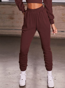 Casual High Waisted Fitness Long Pants