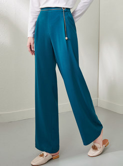 Casual High Waisted Long Wide Leg Pants