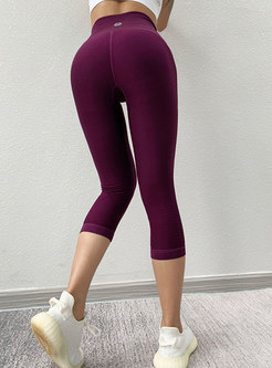 High Waisted Tight Yoga Cropped Pants