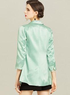 Long Sleeve Flap Pocket Slim Blazer