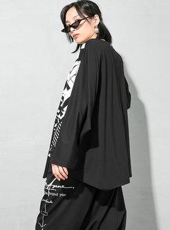 Crew Neck Long Sleeve Pullover Print T-shirt