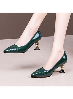 Pointed Toe Low-fronted Spring/Fall Heels