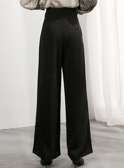 High Waisted Asymmetric Wide Leg Pants