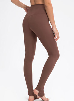 Solid High Waisted Tight Yoga Fitness Pants