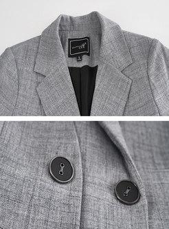 Solid Flap Pocket Slim Blazer