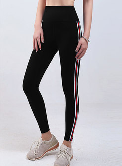 Color-blocked Tight High Waisted Yoga Pants