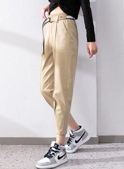 High Waisted Harem Capri Pants