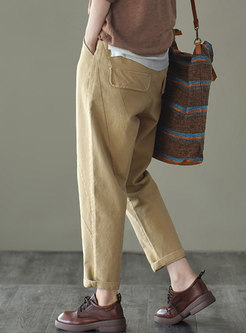 Retro High Waisted Long Harem Pants