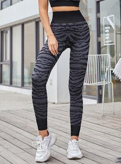 Animal Print Breathable Tight Yoga Pants