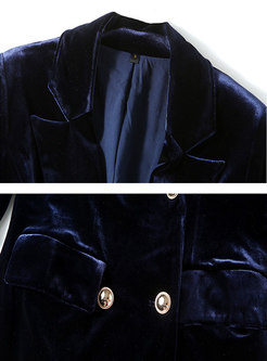 Long Sleeve Velvet High Waisted Flare Pant Suits
