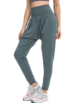 High Waisted Elasticity Sports Harem Pants