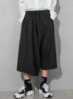 Elasticated Waist Harem Capri Pants