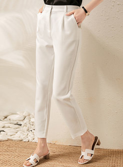 Casual High Waisted Loose Cigarette Pants
