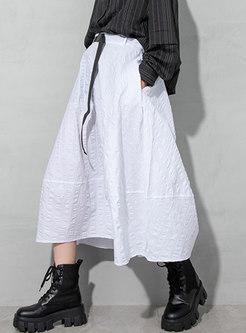 High Waisted Big Hem Plus Size Maxi Skirt