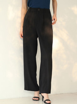 Casual Solid High Waisted Palazzo Pants