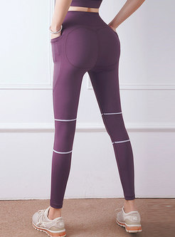High Waisted Tight Yoga Pants With Pockets