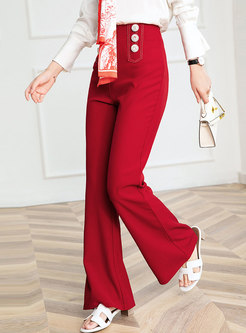 Brief High Waisted Work Bell Bottom Pants