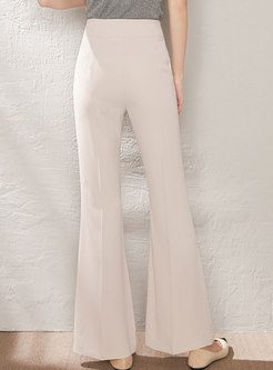 Casual High Waisted Bell Bottom Pants