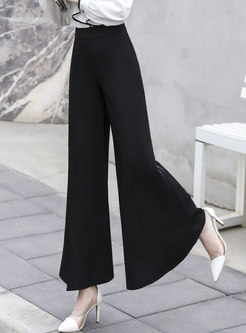 Brief High Waisted Wide Leg Flare Pants